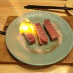 天然本マグロ中トロの料理法:バター醤油炒め と 炙り